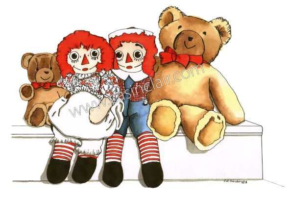 Teddy Bear with the Raggedys: Color