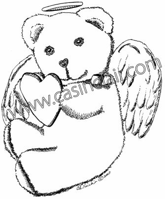Teddy Bear with Loving Heart | Teddy Bear Art | Bears That ...